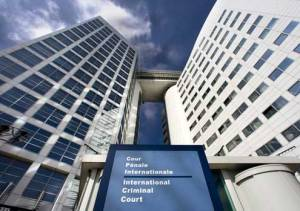 The headquarters of the International Criminal Court in The Hague, Netherlands.