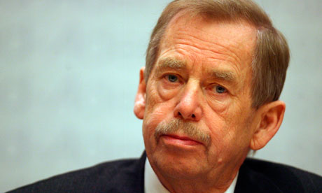 Vaclav Havel (1936-2011), the Czechoslovakian dissident playwright who in 1989 led the country's 'Velvet Revolution', eventually becoming President of Czechoslovakia. From 1992 to 2003 Havel was President of the Czech Republic after Czechoslovakia was eventually dissolved.