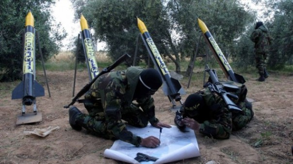 Islamic Jihad rockets, ready to fire, in northern Gaza. (C) Flash90/File)