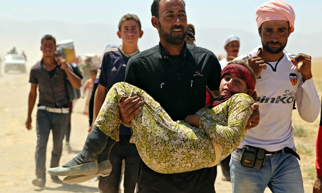 Thousands of Yazidis previously trapped by Isis have been rescued by Kurdish peshmerga forces. (C) Anadolu Agency/Getty Images