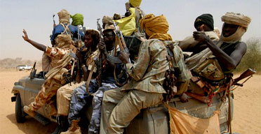 Members of the Sudanese Liberation Army in Susuwa, north Darfur. (C) Candace Feit/Reuters